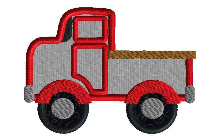 Pick Up Truck Embroidery Design Truck Machine Embroidery Etsy