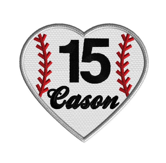 Baseball Embroidery Design Baseball Heart Applique Monogram