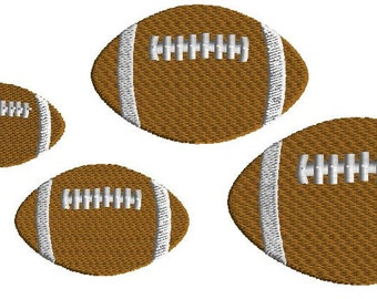 Football Mini Embroidery Design, Filled Stitch, 5 sizes, Machine Embroidery, Digital Download