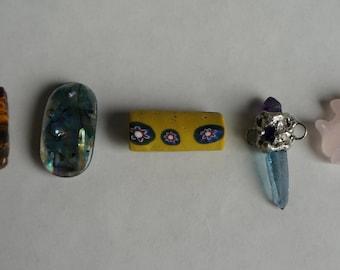 lot of five fantastic pendants