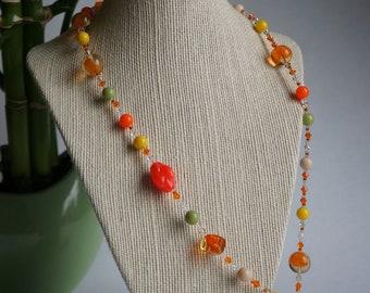 vintage happy hour necklace