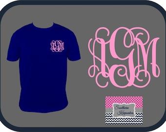Short Sleeve Monogrammed T-Shirts