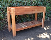 Redwood Elevated planter, raised garden bed.
