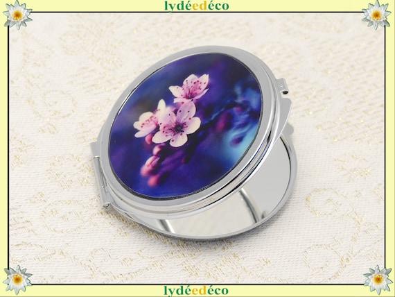 Mirror SAKURA pink purple blue flowers Japan retro metal metal holiday of the mothers Christmas birthday gift