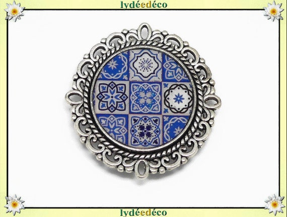 1 magnet magnet Azulejos Lisboa blue white resine resine fete of mothers personalized birthday gift thank you mistress