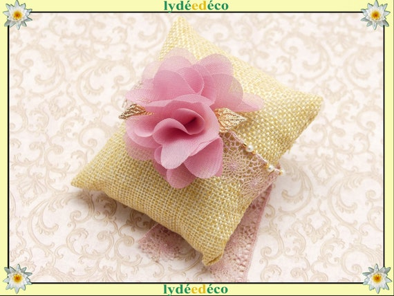 ROSE bracelet to tie wedding beads swarovski pink or cream Flower chiffon silk tulle embroidery guest bridesmaid ceremony gold
