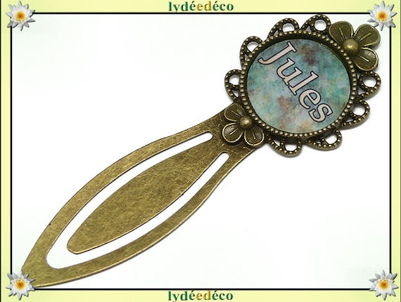 Bookmark place wedding name choose green brown beige resin bronze book mother father's day birthday Christmas custom gift