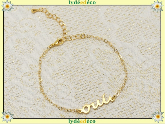 Bracelet YES gold-filled adjustable jewel ceremony wedding accessory bride bride mother's day Mother's Day