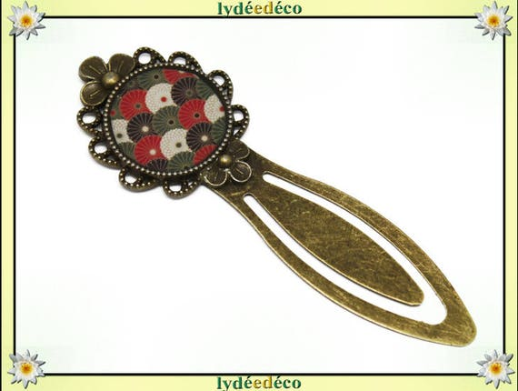 Bookmarks resin fan Japan red black white green bronze diameter 20mm mothers personalized thank you teacher gift