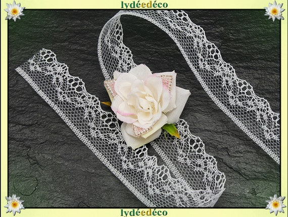 Bracelet tie lace wedding weaving beads white pink Japan Fleur guest gift bridesmaid witness ceremony couple