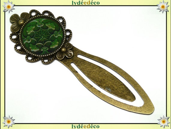 Bookmarks Azulejos Lisboa green resin brass bronze 20mm mother's day birthday personalised thank you teacher