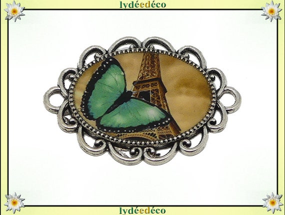 1 magnet magnet Butterfly eiffel tower Paris sepia resin dark green mother's day gift personalized birthday thank you teacher
