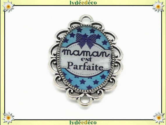 1 magnet magnet perfect MOM bow tie stars blue white resin party mothers gift personalized birthday mother's day Christmas