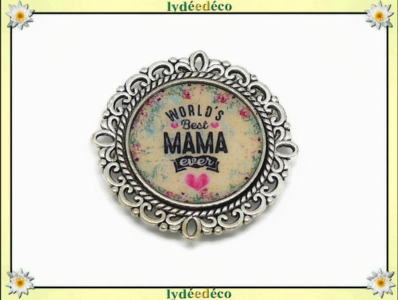 1 magnet magnet world best Mama ever heart flower blue pink resin party mothers gift personalized birthday mother's day Christmas