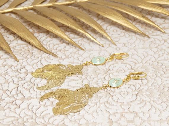 Curls KOI stars brass carp gold jewel ceremony birthday gift fete of mothers wedding christmas