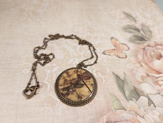 LiBELLULE Peas Leaves Japan Heart retro resin brass bronze