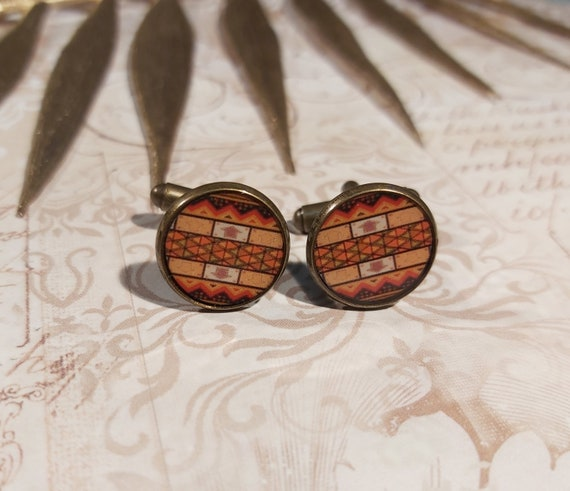 Africa suit african resin suit orange brown black white brass bronze 14mm feast of fathers ceremony