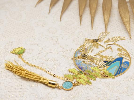 Brand pages GRUE books resin pompom bird blue green white golden mother's birthday gift