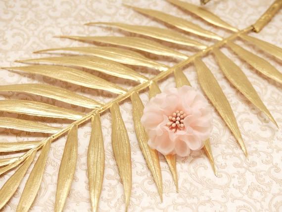 FLOWER ring adjustable wedding pink ivory green pastel or Chiffon flower pistils bride guest bridesmaid ceremony