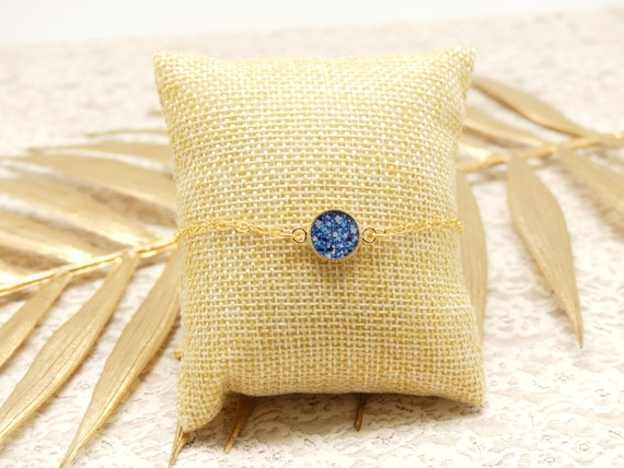 SNOW gold-filled bracelet adjustable liberty blue white or jewel ceremony wedding wedding bride bridesmaid Mother's Day