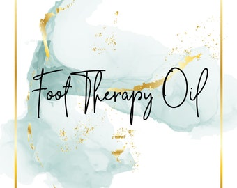 Foot Therapy Oil - 1 oz. - Natural - Massage oil - Plantar fasciitis - Pain relief - Essential oils - For runners and walkers - Non GMO