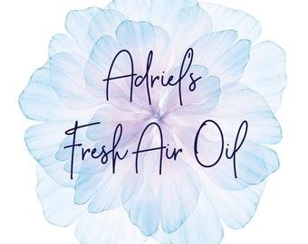 Fresh Air Oil - 2 oz. - Massage oil - Chest rub - Respiratory - Better breathing - Botanical formula - Natural - Essential oils - Menthol