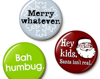 Holiday Apathy Button/Magnet Set