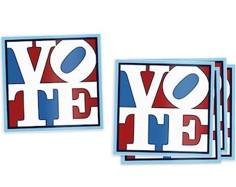 Pop Art Vote Stickers (5 pack) - Vote Stickers - Election Stickers - Voting Stickers - Political Stickers