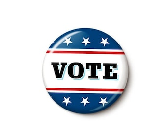 Patriotic Vote Button or Magnet