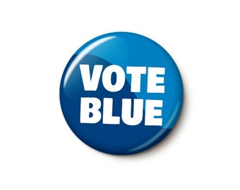 Vote Blue Button or Magnet