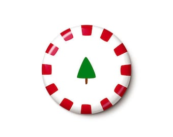 Christmas Candy Button or Magnet