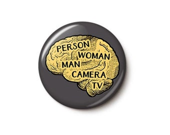 Person Woman Man Camera TV Button or Magnet
