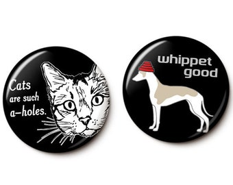 Cats & Dogs Button/Magnet Set