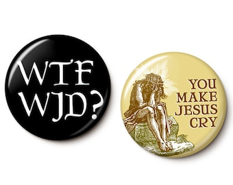 Blasphemy Button/Magnet Set