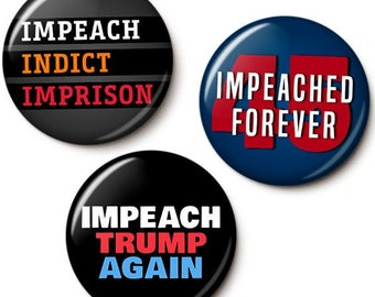 Impeach Trump Button/Magnet Set