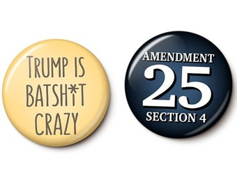 Trump CrazyTown Button/Magnet Set
