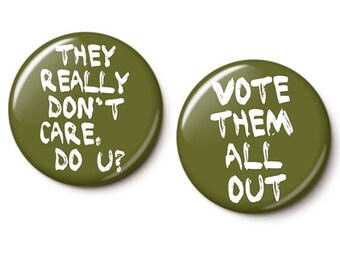 They Really Don't Care Button/Magnet Set