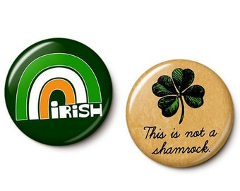 Irish Pride Button/Magnet Set