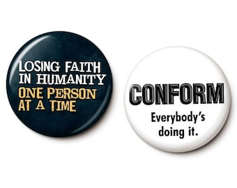 Cynical Button/Magnet Set