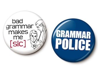 Bad Grammar Button/Magnet Set