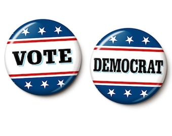 Vote Democrat Button/Magnet Set