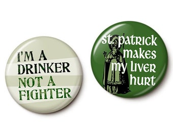 St. Paddy's Day Duo Button/Magnet Set