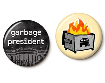 Trumpster Fire Button/Magnet Set
