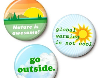 Nature Lover Button/Magnet Set
