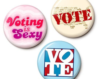 Get Out The Vote Button/Magnet Set
