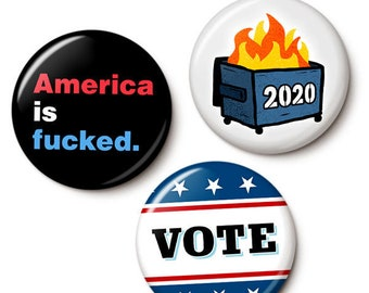 Last Chance For Democracy Button/Magnet Set