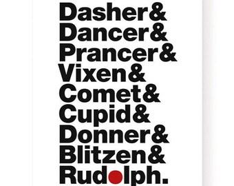 Reindeer Names Art Print