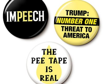 Trump PeePeeGate Button/Magnet Set
