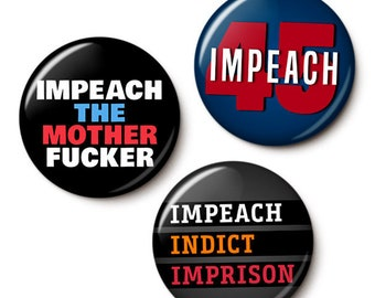 The Impeachment Button/Magnet Set
