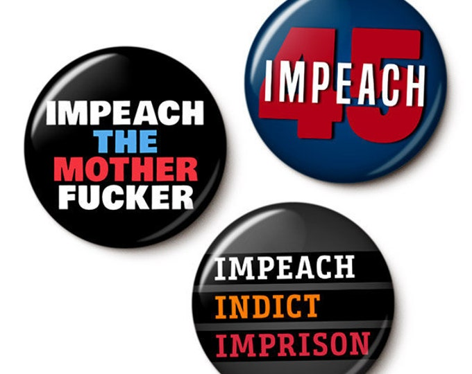 Featured listing image: The Impeachment Button/Magnet Set